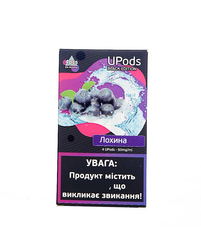 Картридж Upods Black Edition Голубика 4 шт
