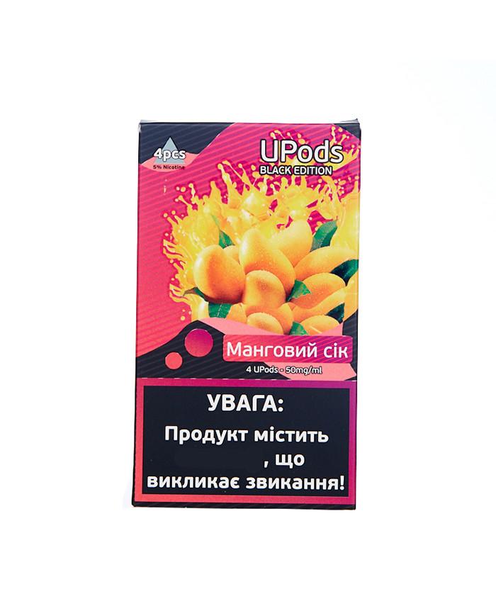 Картридж Upods Black Edition Манговый сок 4 шт