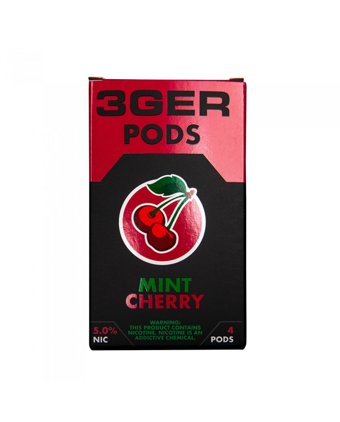 Картридж 3Ger Pods Mint Cherry 4 шт