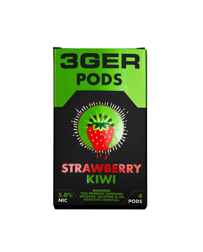 Картридж 3Ger Pods Strawberry Kiwi 4 шт