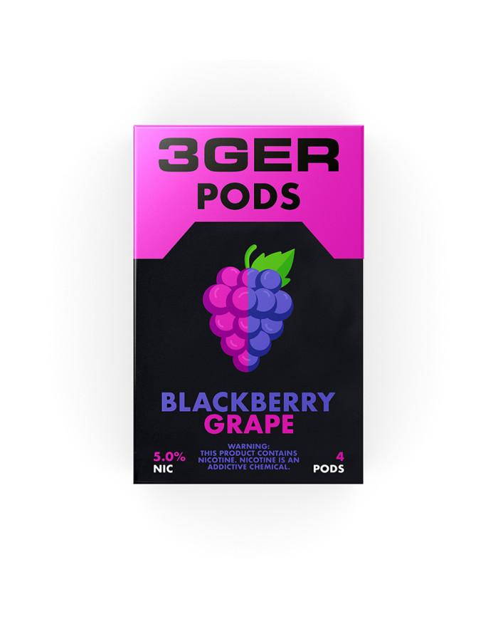 Картридж 3Ger Pods Blackberry Grape 4 шт