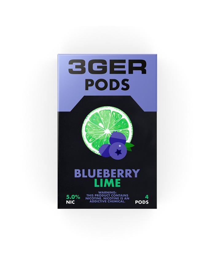 Картридж 3Ger Pods Blueberry Lime 4 шт