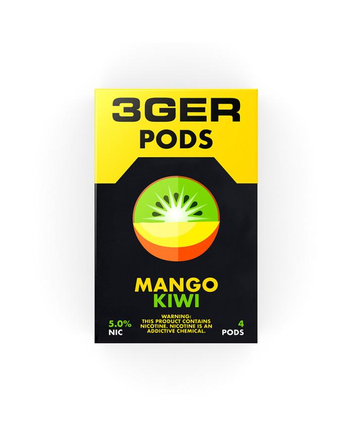 Картридж 3Ger Pods Mango KIwi 4 шт